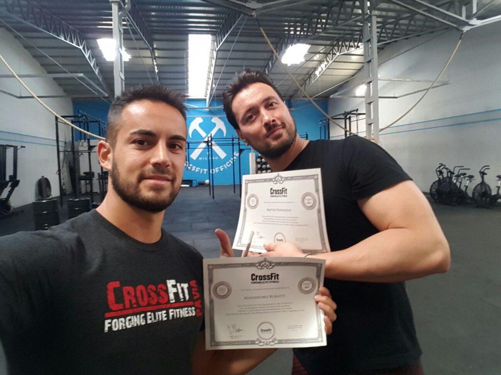 CrossFit Level 2 Certificate course a Milano per i nostri coach Ale e Pedro